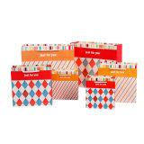 MOQ Wholesales дешевые небольшой логотип печатной бумаги подарок сумки