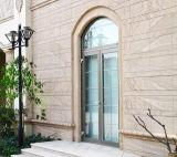 Doble acristalamiento de aluminio de alta calidad personalizada puerta francesa la puerta de entrada