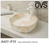 Goldene Badezimmer-Schrank-Bassin-beste Qualitätskeramisches Bassin