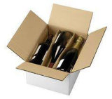 Выполните операции обработки вина из гофрированного картона черного цвета в розничной упаковке