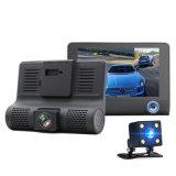 Full HD 1080P ПРИБОРНОЙ ПАНЕЛИ Car Cam широкий угол обзора 170 градусов 4 ЖК-DVR видеорегистратор с двумя объективами передней+G-Sensor Hdr задней панели камеры