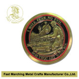 Flat Curved EdgesのカスタムSouvenir Military Challenge Coins