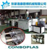 El tubo de plástico Tubo conduit de PVC de doble línea de extrusión de producción