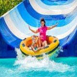 Equipos de juego tobogán espiral abierta Parque acuático al aire libre