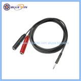 Femelle 1/4 TRS 6,35 mm de cordon de fil du connecteur stéréo 3,5 mm Connecteur Câble audio jack