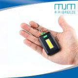 Outdoor Mini lampe de poche avec les principales chaînes de rafles COB cadeau d'éclairage