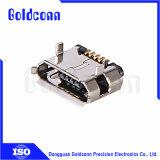 Weiblicher SMT Typ Mikro-USB-Verbinder5 Pin-