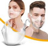 Stofbestendig Plastic Volwassene Clear Anti Virus Isolation Face Mask Afscherming