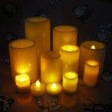 Romantisches helles preiswertes Großhandelsflammenloses Kerze-Hauptplastiklicht des Pfosten-LED