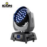段階装置RGBW 4in1 36X10Wのズームレンズの洗浄移動ヘッドライト