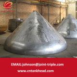 06-19 estremità conica del piatto di alluminio applicata all'estremità ID1800mm*25mm del serbatoio