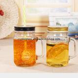 Firmenzeichen graviertes Maurer-trinkendes Getränkeglasglas mit Griff anpassen