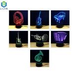 Buntes LED Nachtlicht des Musikinstrument-