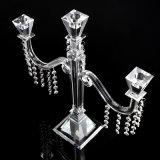 De Kandelabers van het kristal, de Houder van de Kaars met 5 Wapens voor de Decoratie van Kerstmis