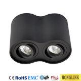 Justierbare Oberfläche hing LED-unten Licht, Punkt-Licht der Neigung-GU10, Aluminium-LED-Deckenleuchte ein