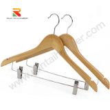 Деревянные вешалки с металлическими Bar-Clips, Вешалку для одежды высокого качества