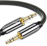 Finshnetは男性ケーブルに3.5mmの可聴周波補助のステレオの男性を編んだ