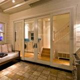 Moderno diseño de aluminio a prueba de sonido de la puerta corrediza de vidrio doble