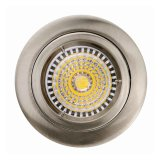 Morire l'illuminazione bianca messa fissa rotonda del nichel LED del raso della fusion d'alluminio GU10 MR16 G5.3 (LT1100)