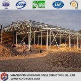 Taller de la estructura de acero de la alta calidad con de dos pisos