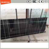 Impression de Silkscreen de la qualité 3-19mm/gravure à l'eau forte acide/configuration givré/de configuration sûreté gâchée/verre trempé pour le mur/étage/partition de meubles avec SGCC/Ce&CCC&ISO