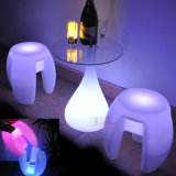 Cadeira LED Lighted LED Cube Chair Outdoor Sentry Patio Furniture