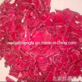 Flocons de PEHD rouge recyclé, papier recyclé les restes de PEHD rouge
