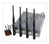 Phone&GPSの移動式妨害機、高い発電、リモート・コントロールの調節可能な携帯電話GPS WiFiの妨害機
