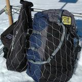 Bolsa de malla de acero inoxidable mochila de metal