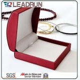 Boîte-cadeau en cuir d'emballage de bijou de cadre de mémoire de bijou de velours (Ys334)