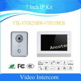 Dahua jogo video do IP do intercomunicador do Doorbell da casa de campo de 7 polegadas (VTK-VTO6210BW-VTH1550CH)