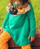 100% coton à manches longues robe de princesse D22