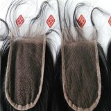 インドのバージンの人間の毛髪を搭載するレースの閉鎖