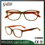 Acetato de moda óculos de estoque por grosso de óculos Moldura de vidro óptico