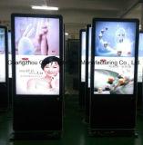 """Quiosco lleno de interior LCD del soporte del suelo de 42 """" HD que hace publicidad del jugador"""