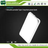 Banco portátil ultra fino 10000mAh da potência com tipo porta de C