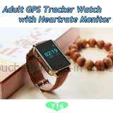 reloj del perseguidor del GPS de la anciano 2g con la supervisión del ritmo cardíaco (Y16)