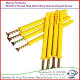 Bullone d'ancoraggio di plastica di espansione, bullone d'ancoraggio giallo dei pesci, bullone d'ancoraggio di plastica di nylon