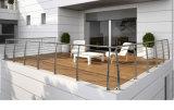 Sistema de la barandilla de Rod del acero inoxidable/de pasamano de la barra horizontal para el balcón