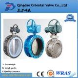 De professionele Gemaakte Sanitaire Vleugelklep van het Roestvrij staal van het Type van Wafeltje