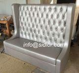 (SD-4009) Mobilia di cuoio di legno moderna del sofà di Chesterfield per il caffè del ristorante