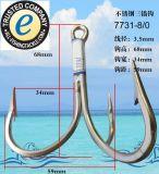 Edelstahl-dreifacher Fischerei-Haken