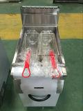 frigideira elétrica das microplaquetas de batata de 1-Tank 2-Basket com gabinete (HEF-90A)