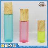 De aangepaste Kosmetische Reeks van de Zorg van de Huid van de Deklaag van de Kleur van de Containers van de Steekproef Houten