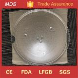 Plaque tournante en verre à four à micro-ondes de six pieds rondes 345mm