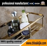 Accessoires de salle de bain Gold Shower Basket of Stainless Steel