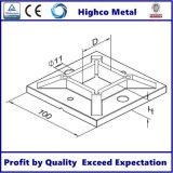 Bride de base carrée pour balustrade en acier inoxydable et main courante