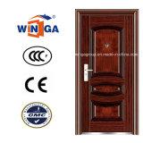 Bon Prix de la sécurité de l'acier extérieur en métal porte en fer (W-S-112)