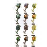 Los Finials de la cortina de la bola cristalina del oro del renacimiento con el metal enganchan los ganchos de leva de Tieback de la cortina
