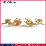 Bijou exquis de mode une borne plaquée par or de broche d'andouillers de paires